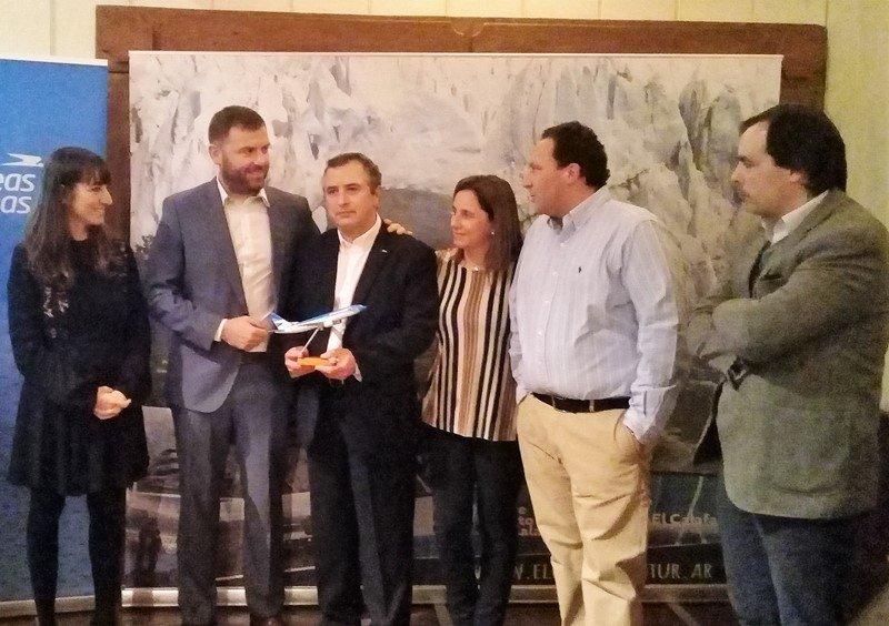 Representantes de agencias de Uruguay premiados por Aerolíneas Argentinas.