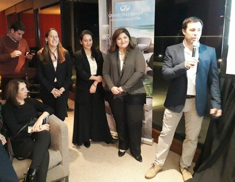 El equipo de Palladium en su presentación en Montevideo.