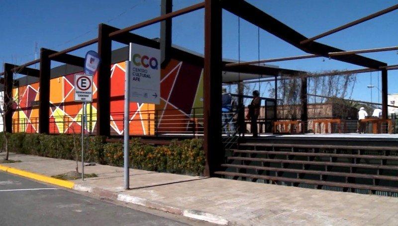 Junto al reinaugurado Centro BIT se encuentra el Centro Cultural de AFE en la antigua estación de ferrocarriles de Colonia del Sacramento.