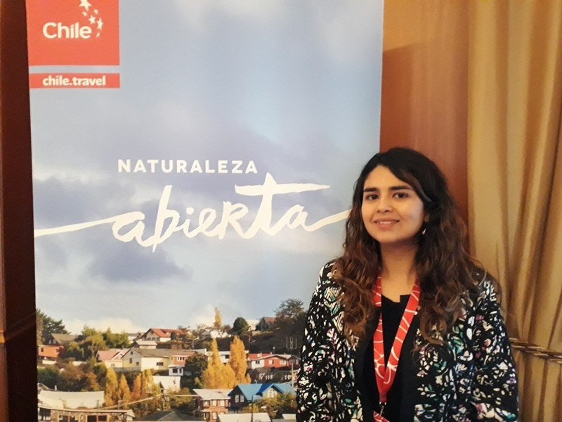 Paulina Pérez Salas, Market Manager Latinoamérica de Sernatur, en la presentación país en Montevideo.