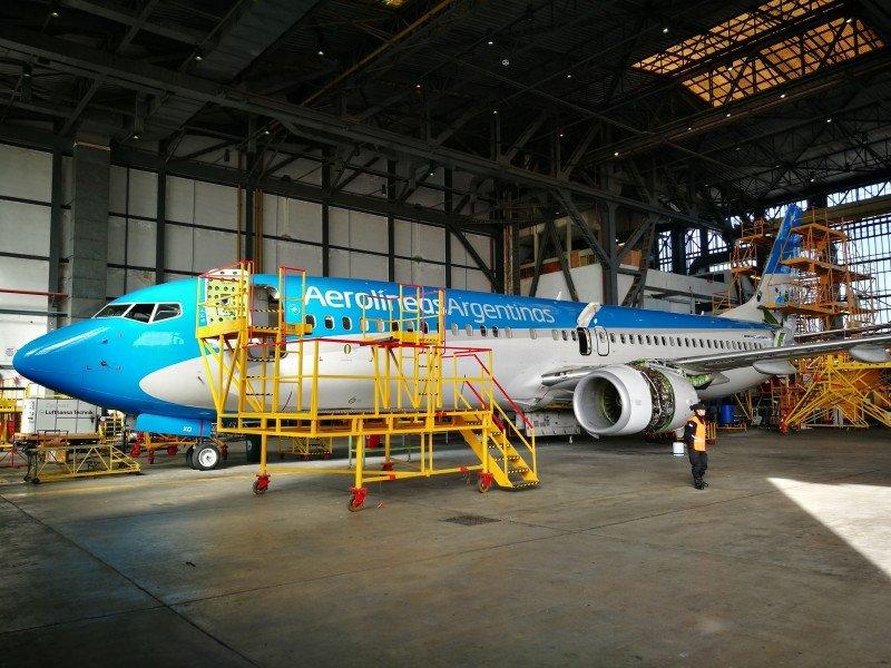 Aerolíneas Argentinas invertirá US$ 30 millones en mejorar sus hangares