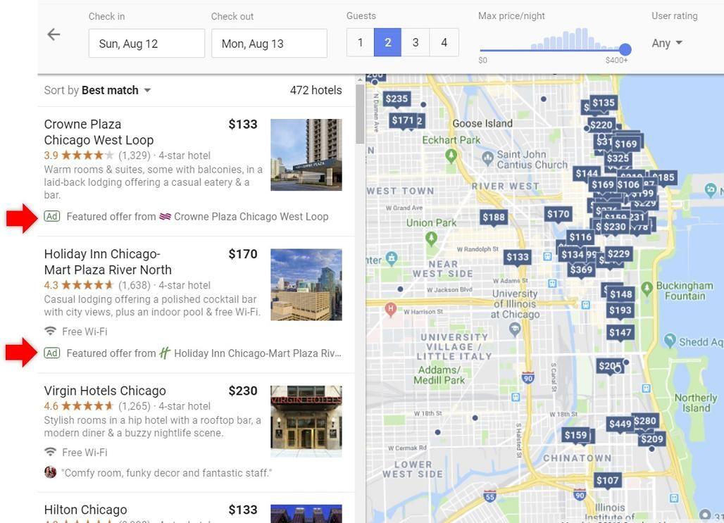 Imagen Google: nuevo escaparate para venta directa en las búsquedas por destino