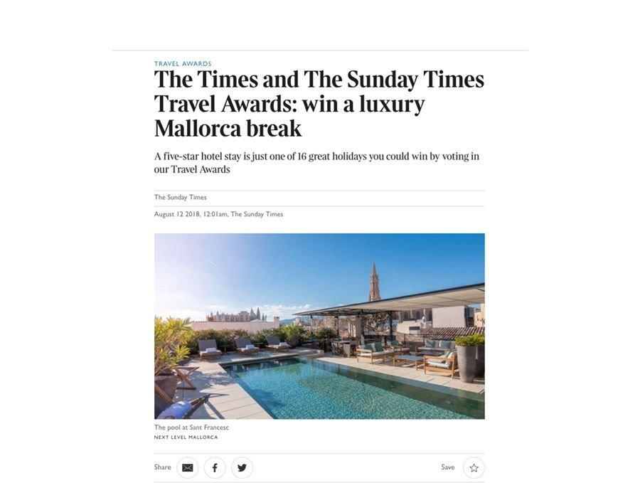 Imagen ¿Con qué hotel español premia The Times a sus lectores?
