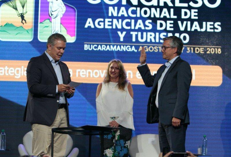 Duque posesionó como viceministro de Turismo a Juan Pablo Franky durante el Congreso organizado por ANATO.