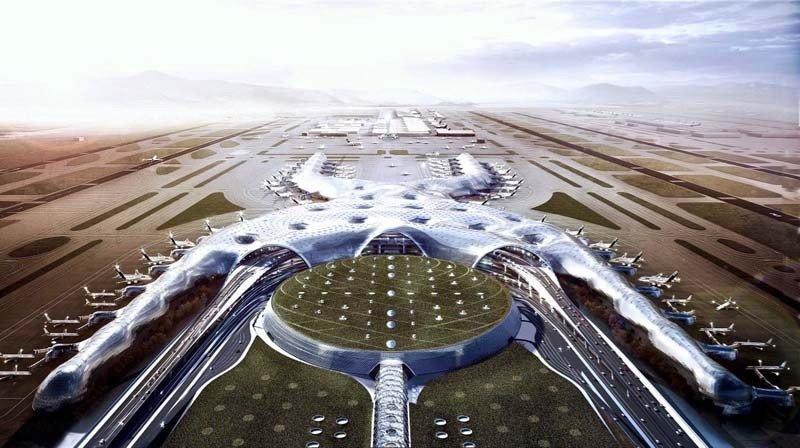 Nuevo aeropuerto de México tiene avance de casi 60% en pistas