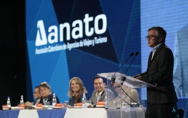 Juan Pablo Franky, viceministro de Turismo de Colombia en el Congreso de ANATO.