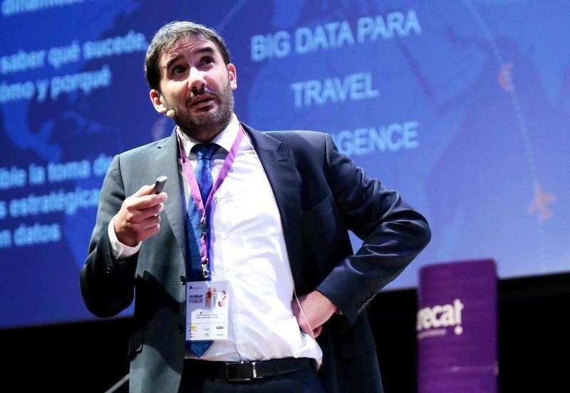 Santi Camps, fundador de Mabrian Technologies, en una conferencia sobre tecnologías en la industria turística organizada por Eurecat en Barcelona.