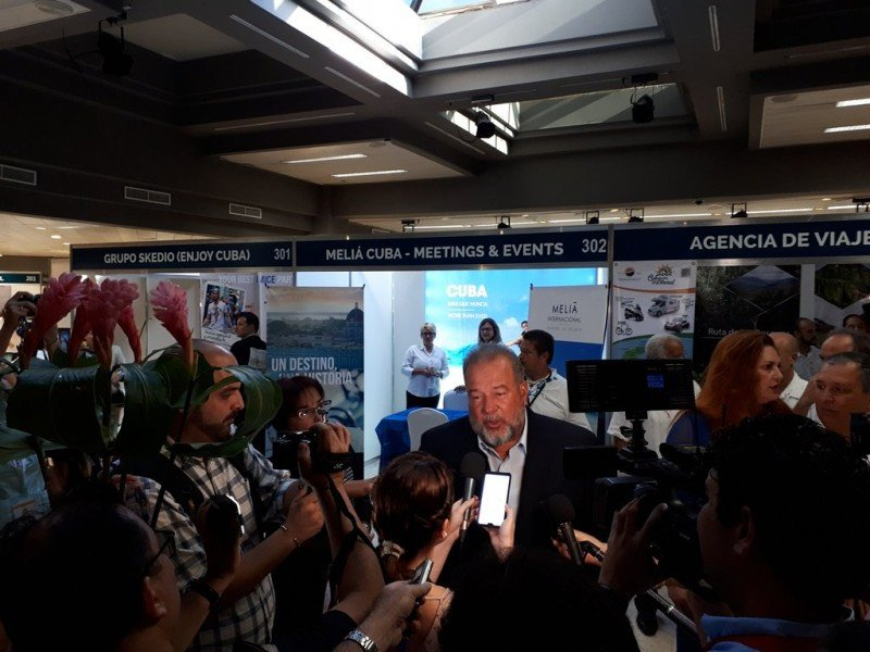 Ministro Manuel Marrero en el MITM Américas. Foto: Meliá Cohiba