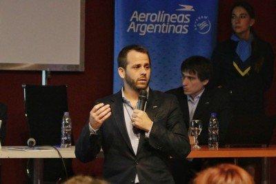 Máximo Amadeo, Director Comercial de Aerolíneas Argentinas, presentó en FIT 2018 la oferta para el verano 2019.