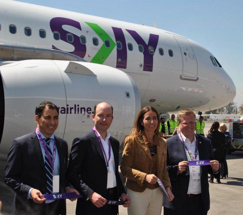 SKY Airline presenta su A320neo y anticipa rebaja del 20% en sus tarifas