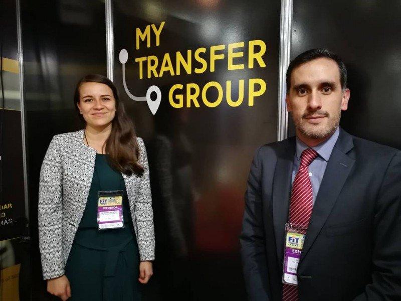 Angélica Bernal (Analista de producto) y Andrés Calvo (CEO de MyTransfer Group)
