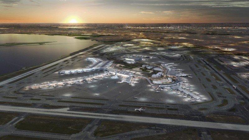 Proyecto de reforma del aeropuerto JFK de Nueva York. Imagen: A21