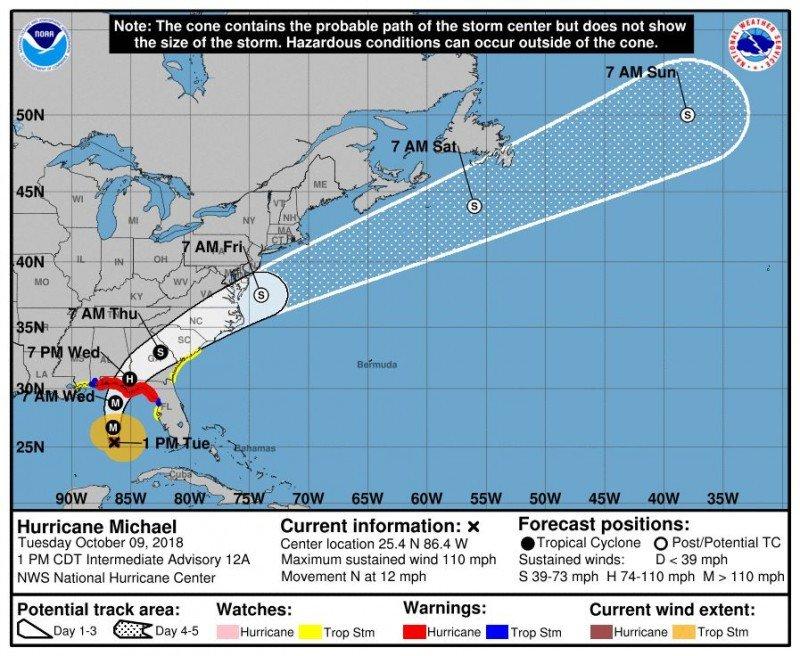 Huracán Michael deja daños en el oeste de Cuba y se dirige a EEUU