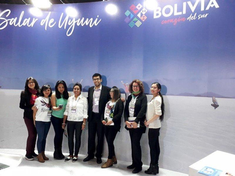 Parte del equipo de Bolivia en la FIT 2018.