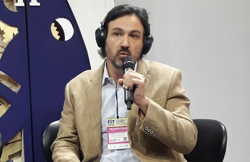 Andrés Topolansky, director de la desarrolladora Netviax, en el foro FIT Tech.