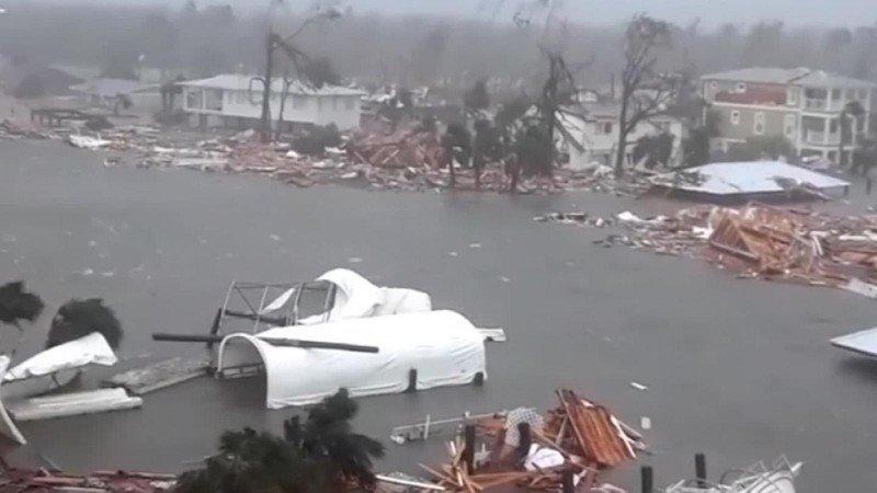 Destrucción en Mexico Beach, EEUU; por el huracán Michael. Foto: CNN