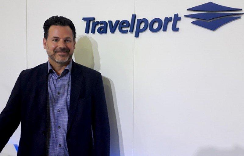Robert Brown, director ejecutivo y vicepresidente de OTAs deTravelport, en la FIT 2018 de Buenos Aires. Fotos: J. Lyonnet