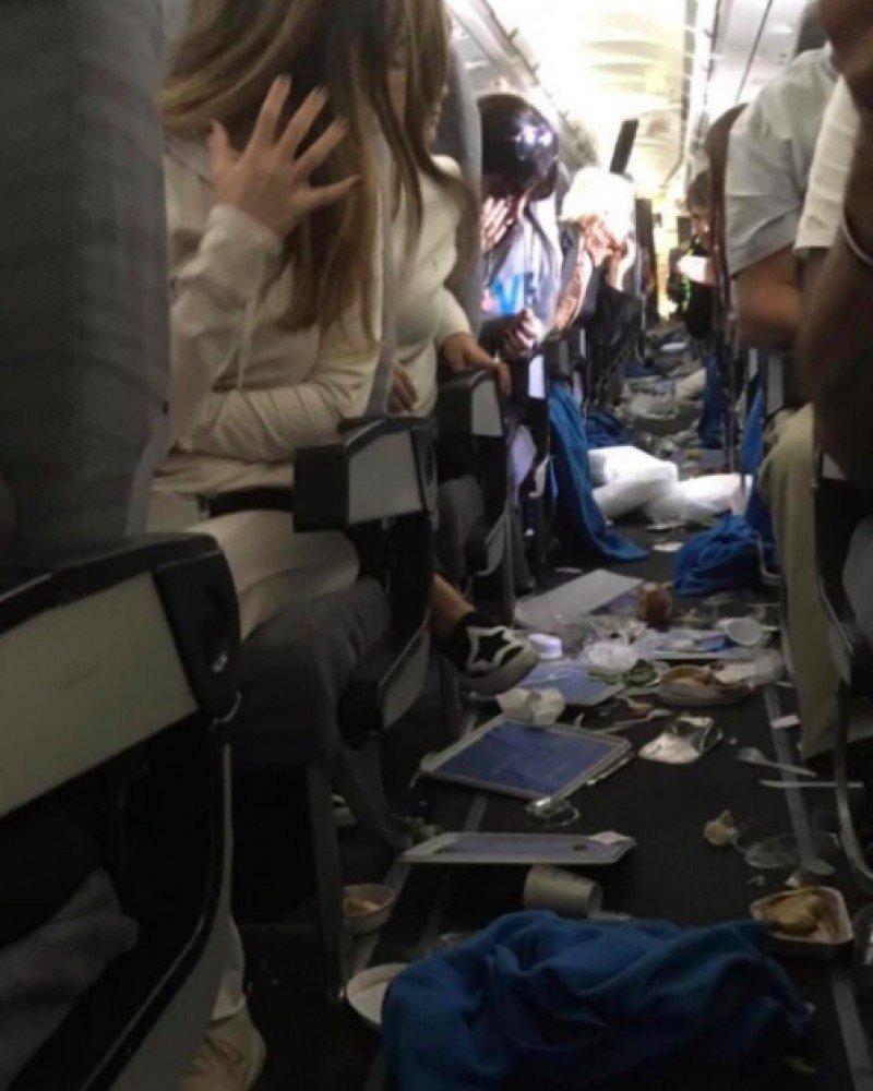 Turbulencia severa provoca 15 heridos en un vuelo de Aerolíneas Argentinas (Foto: Twitter)