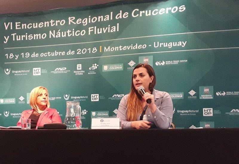 Bruna Milazzotto, de Royal Caribbean, en el VI Encuentro Regional de Cruceros de Montevideo.