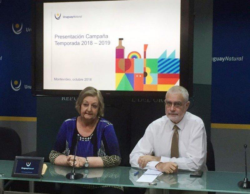 Ministra Liliam Kechichian y subsecretario Benjamín Liberoff en la presentación de la campaña promocional 2018/2019.