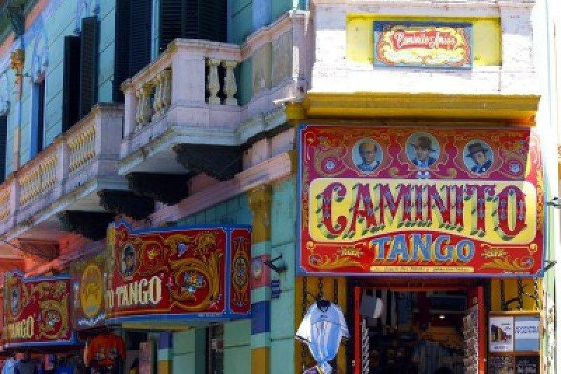 Calle Caminito, en Buenos Aires.