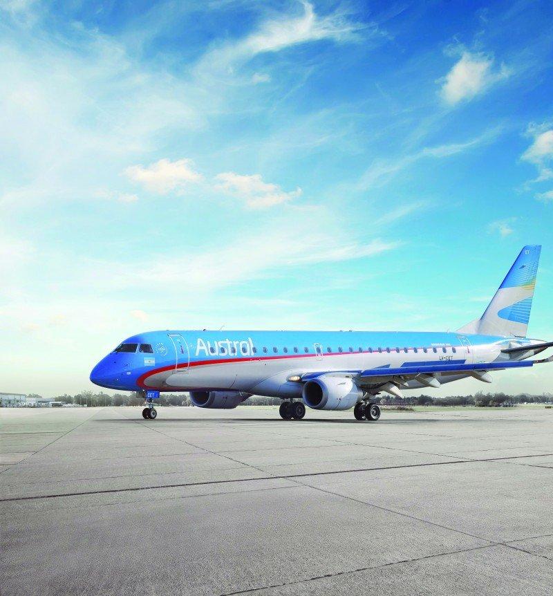 Austral recibe 20 ofertas para el recambio de la flota Embraer