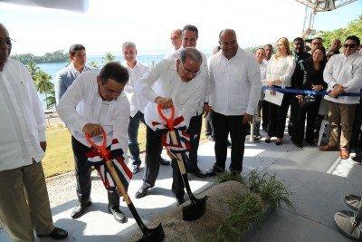 Danilo Medina asiste a primer palazo proyecto Hacienda Samaná Bay.