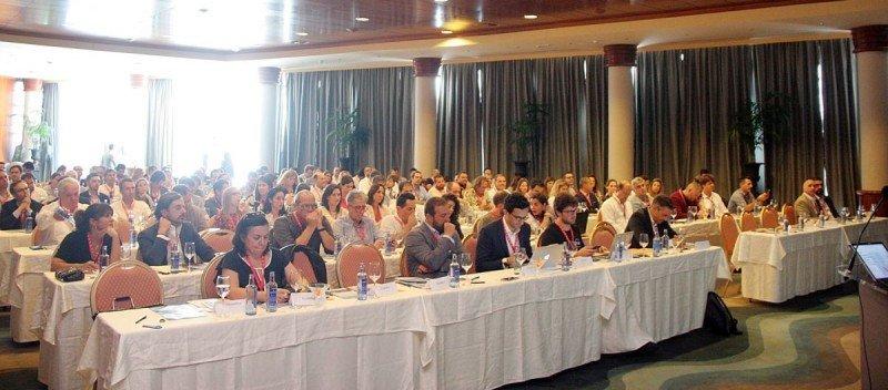 Imagen de la primera jornada sobre distribución hotelera, en el Hotel Valparaíso Palace de Palma de Mallorca.