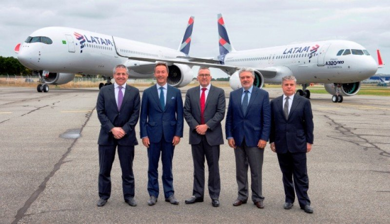 Los primeros Airbus A320neo llegados a Latinoamérica fueron para la flota de LATAM.