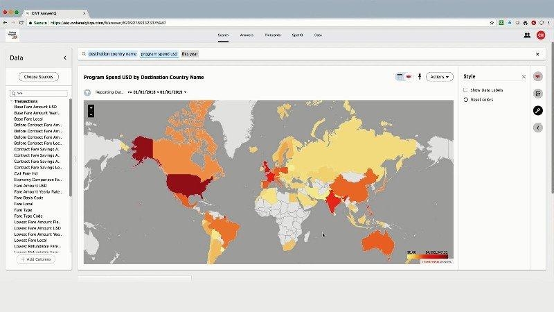 CWT lanza una herramienta de visualización e informes de viajes basada en inteligencia artificial