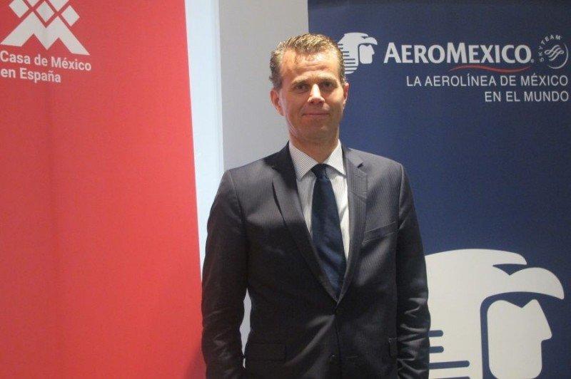 Paul Verhagen se muestra confiado en que Aeroméxico seguirá creciendo en los vuelos entre España y México.