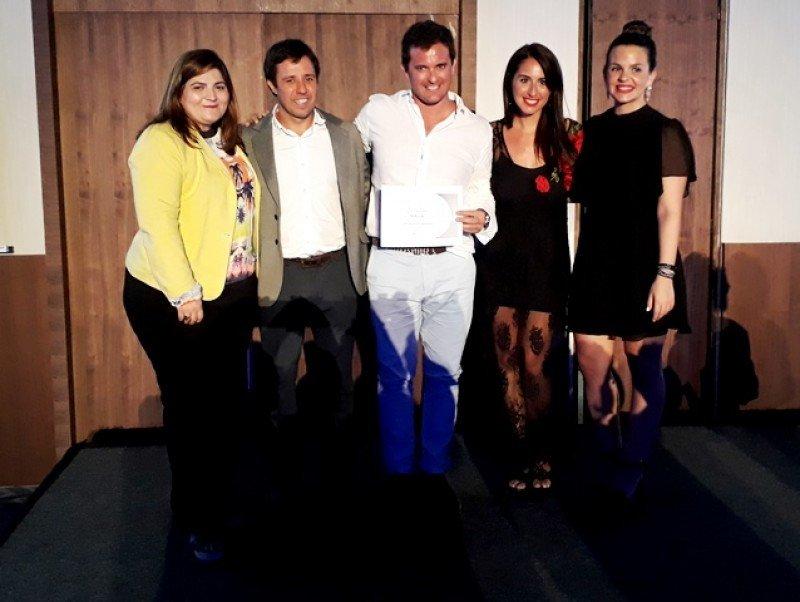 Juan García, de OLA Turismo, fue distinguido por Palladium en su evento Best Partners en Costa Mujeres.
