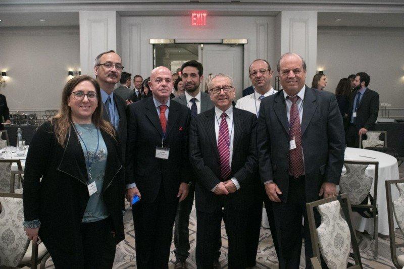 Representaciones de Argentina, Colombia y Chile en la reunión de la nueva coalición celebrada en Nueva York. Foto: FEHGRA.