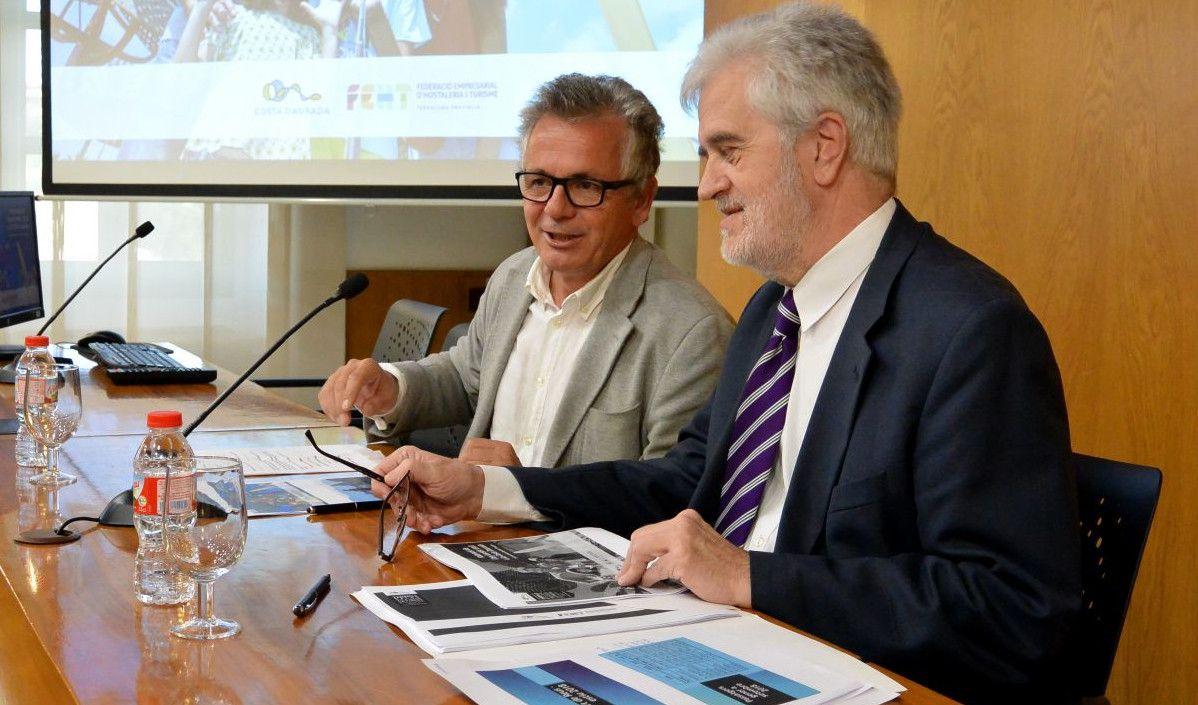 Eduard Farriol (izquierda) y Martí Carnicer, durante la rueda de prensa celebrada el pasado viernes.