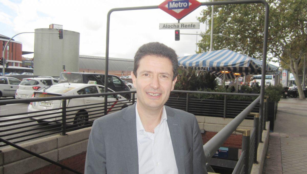 Marc Vieilledent, este miércoles en Madrid, una de las ciudades en las que EasyHotel quiere establecerse.