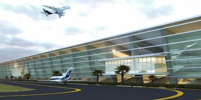 Fachada propuesta para el Aeropuerto Internacional de Santa Lucía. - Foto: lopezobrador.org.mx