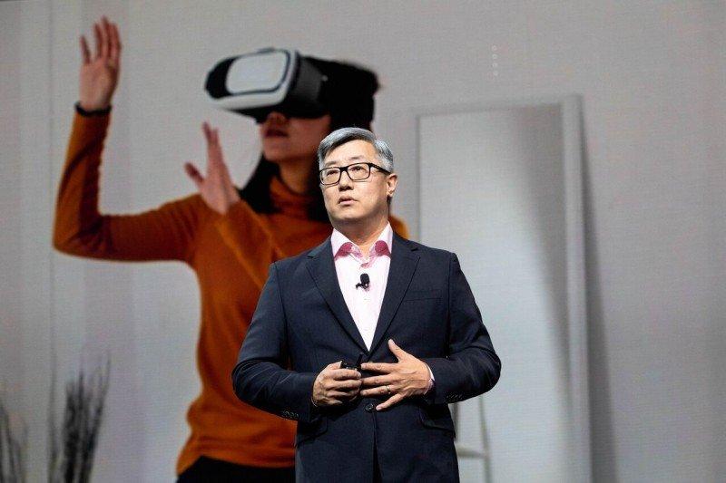 John Kim, presidente de HomeAway, durante su presentación en la conferencia Explore 18 de Expedia.