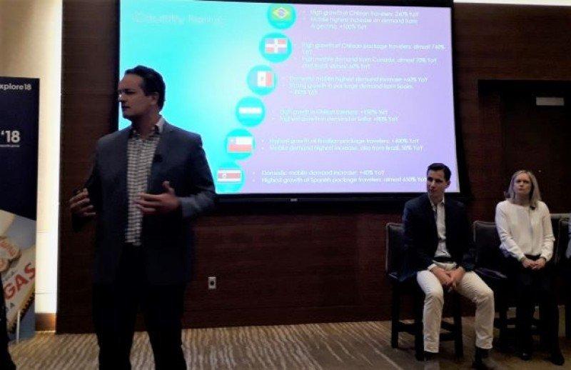 Mario Ribera presentó los resultados y novedades de Expedia en distintos mercados y destinos de América Latina en la conferencia Explore 18 de Las Vegas.