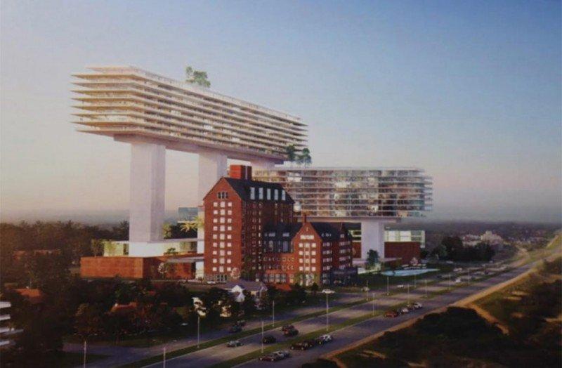 Así quedaría el nuevo complejo frente a la playa Brava de Punta del Este.