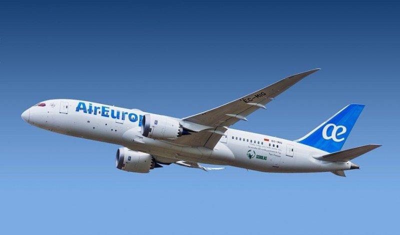 Air Europa aumenta 10% su tráfico en 2018