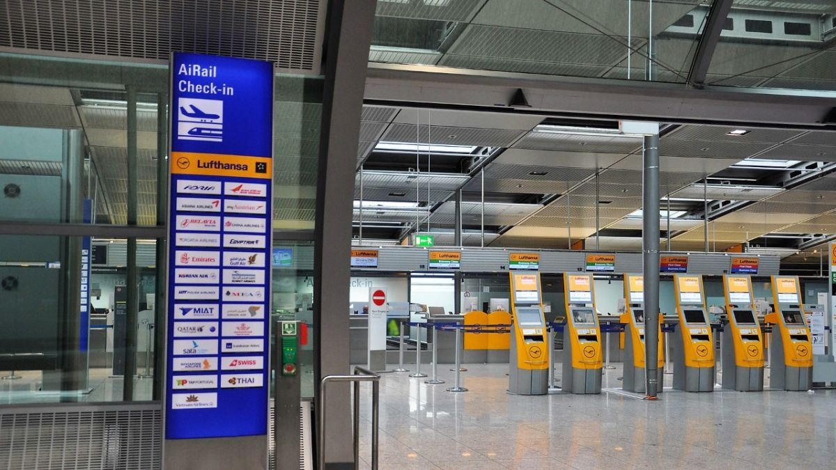 Flughafen Frankfurt Ankunft Morgen Condor