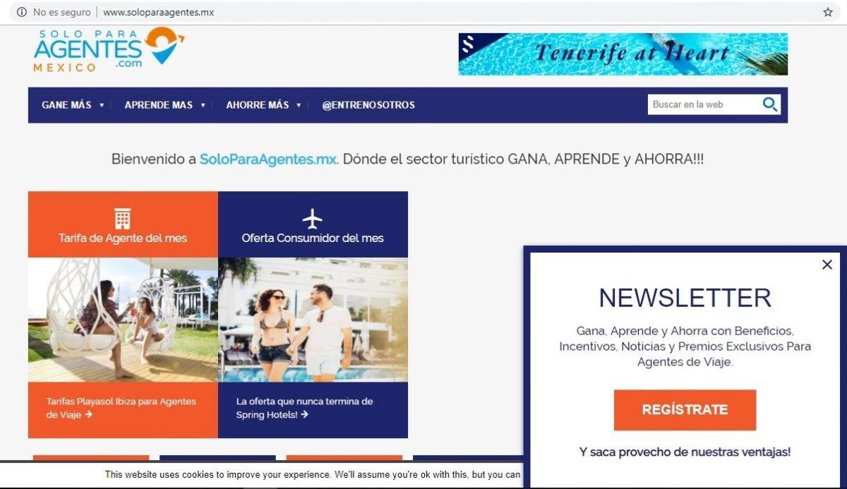 Plataforma online de SoloParaAgentes.mx
