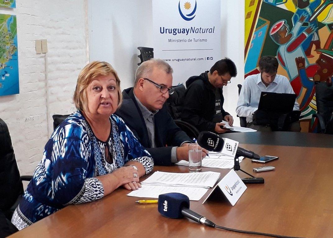 Liliam Kechichian, ministra de Turismo de Uruguay, en la presentación de las cifras de enero/febrero 2019.