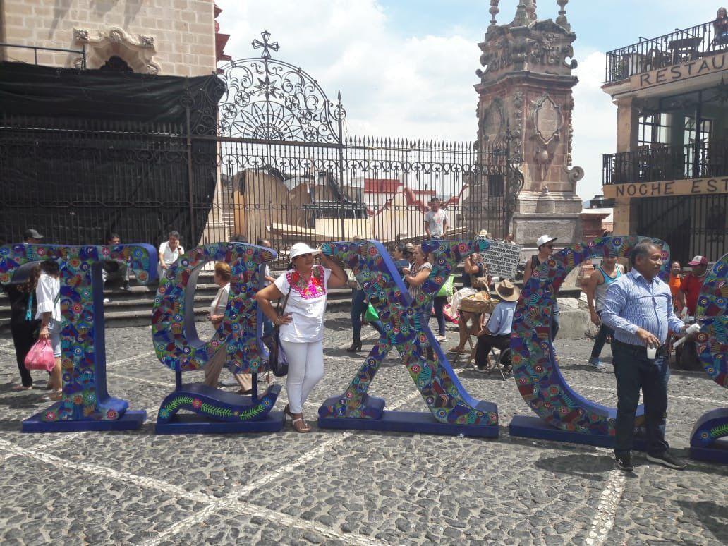 Turistas en la ciudad mexicana de Taxco. Foto: