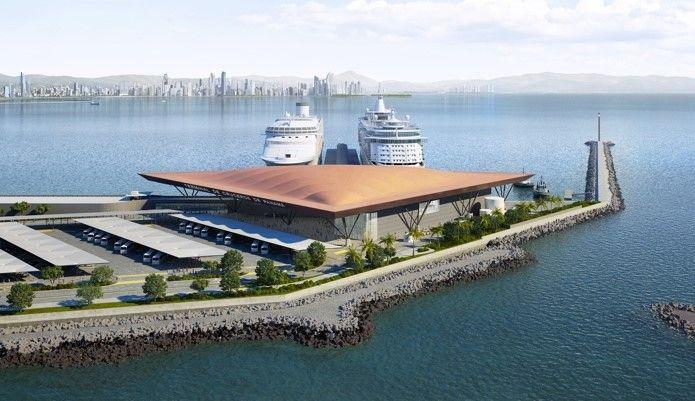 En la primera etapa el puerto podrá recibir a dos barcos de 380 metros en forma simultánea