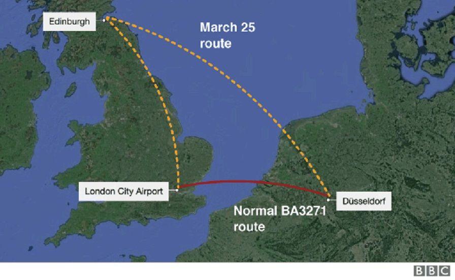 Un avión aterriza en Edimburgo en vez de en Dusseldorf por error