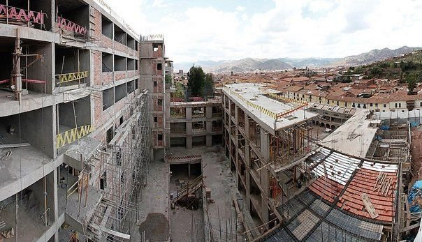 Obra del hotel Four Points Sheraton Cusco. Foto: Correo Cusco