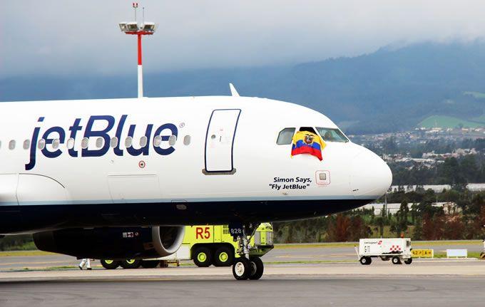 JetBlue refuerza sus rutas a Ecuador. Foto: Aeropuerto Quito
