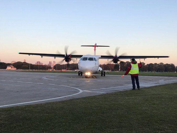 Uno de los aviones ATR 72 de Avianca Argentina