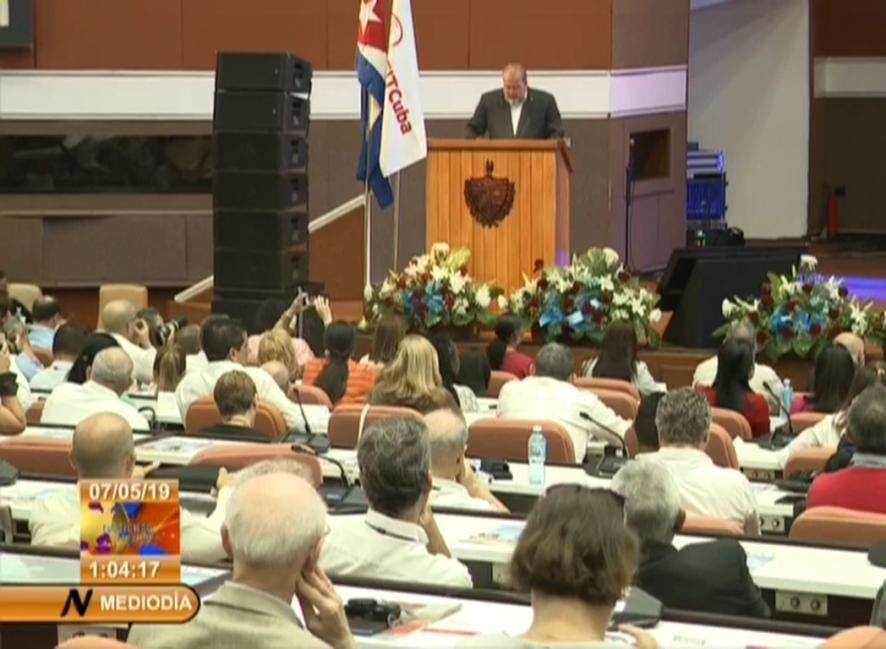 El ministro de Turismo de Cuba, Manuel Marrero, en la apertura oficial de FitCuba 2019, en La Habana.